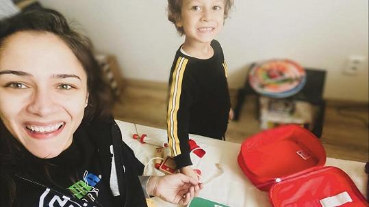 Eva Burešová se synem Nathanem