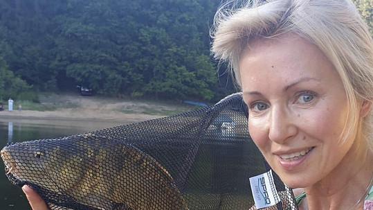 Kateřina Brožová na rybách