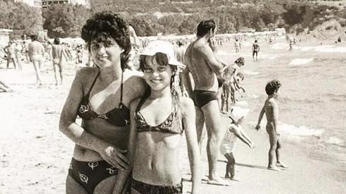 Simona Krainová s maminkou