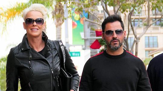 Brigitte Nielsen s manželem Mattiou Dessim.