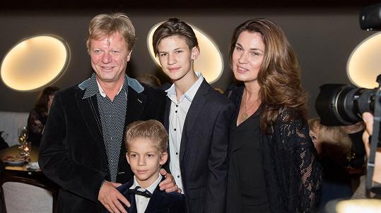 Maroš Kramár s rodinkou