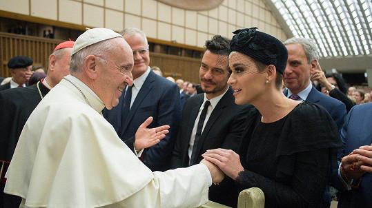 Orlando Bloom a Katy Perry navštívili papeže.
