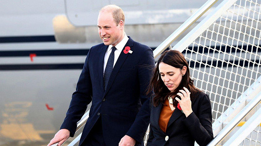 Princ William s novozélandskou premiérkou Jacindou Ardern