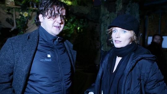 Fotograf Adam Holý s Aňou Geislerovou v roce 2006...