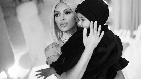 Kim Kardashian se synem Saintem