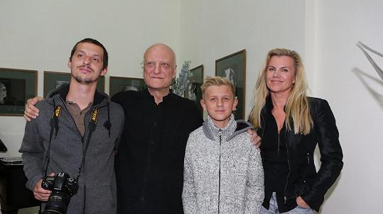 Bořek Šípek s rodinou