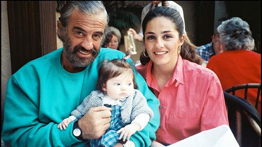 Jean-Paul Belmondo s dcerou Florence a vnučkou Annabelle