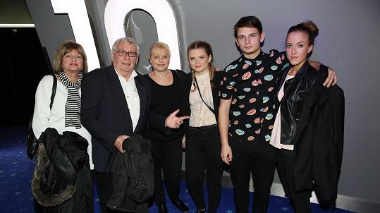 Michal Suchánek měl v kině velkou podporu.