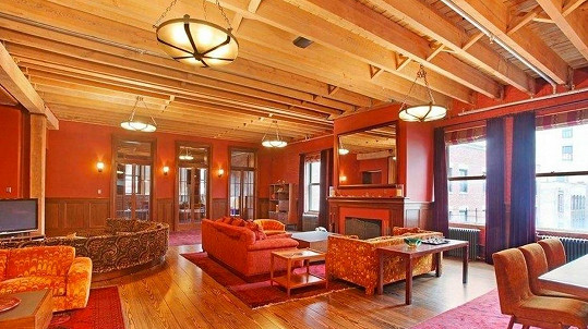 Interiér bytu Taylor Swift, který bude využívat i s Calvinem Harrisem.