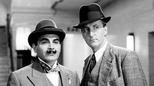 David Suchet a Hugh Fraser v legendární televizní sérii Hercule Poirot