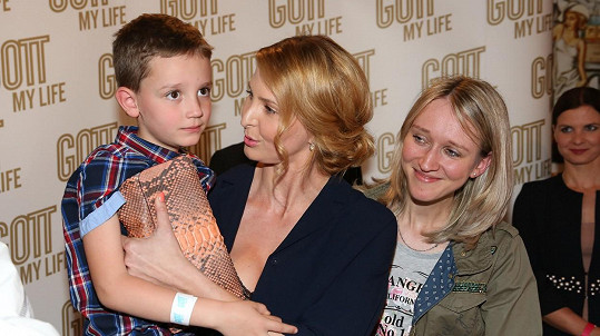 Ivana Gottová s vnoučkem Karla Gotta