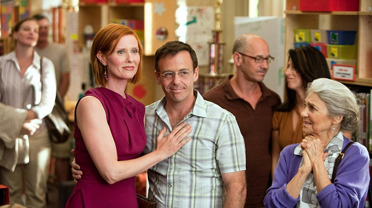 David Eigenberg a Cynthia Nixon jako Steve a Miranda