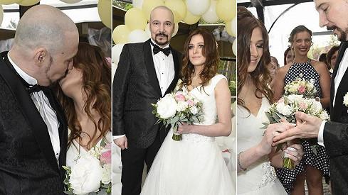 Novomanželé Lucie a Bohuš Matušovi