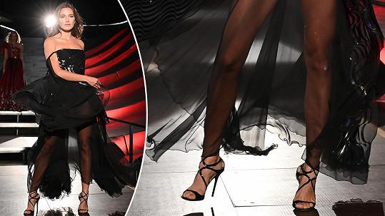 Andrea Bezděková předvedla krásně tvarované nožky.