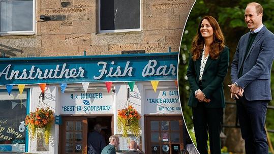 Do této restaurace chodili Kate a William v době studií na smaženou rybu s hranolky.