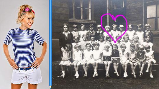 Kateřina Kaira Hrachovcová se pochlubila školní fotkou babičky.