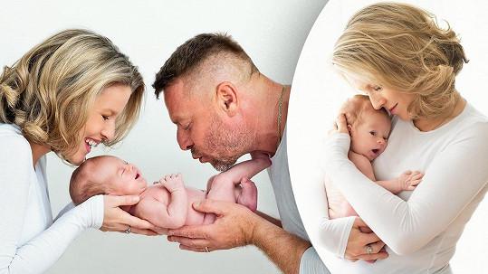 Michaela Gemrotová s rodinou