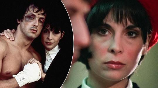 Manželku boxera Rockyho si zahrála herečka Talia Shire.