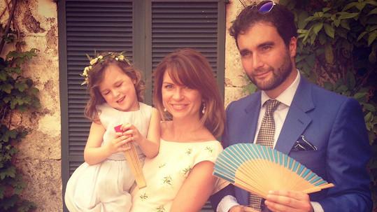 Gabriela Peacock s manželem a dcerou Maiou