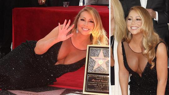 Mariah Carey obdržela hvězdu na chodníku slávy v Hollywoodu.