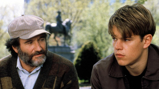 Robin Williams s Mattem Damonem v dramatu Dobrý Will Hunting