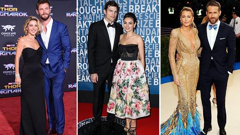 Tyto herecké hvězdy spolu uzavřely manželství.