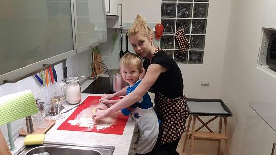 Michaela Sejnová se synem