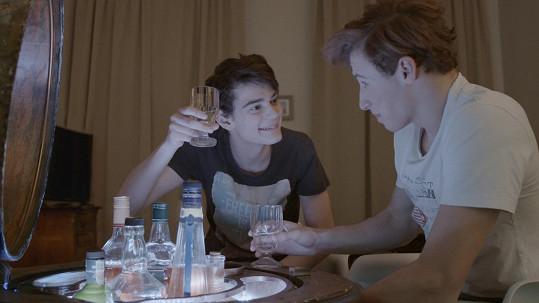 Josef Trojan jako mladý alkoholik.