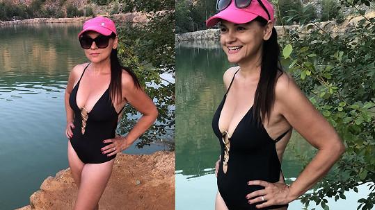 Magda Malá se ukázala v plavkách.