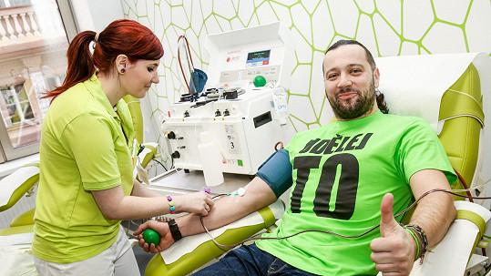 Ruda z Ostravy daroval krevní plazmu.