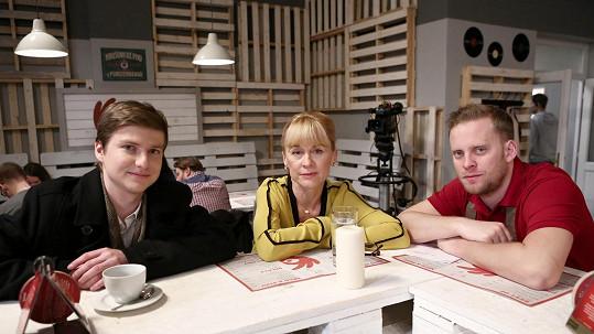 Braňo Holiček (vlevo) je novou postavou v seriálu Ohnivý kuře.