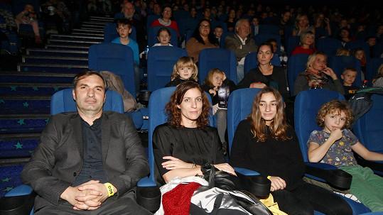 Jiří Macháček s rodinou