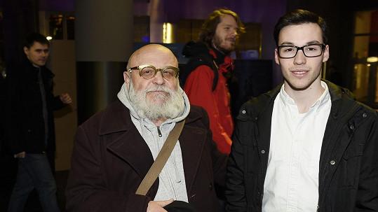 Arnošt Goldflam se synem