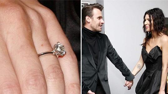 Tenhle zásnubní prsten Leoš Monice věnoval.