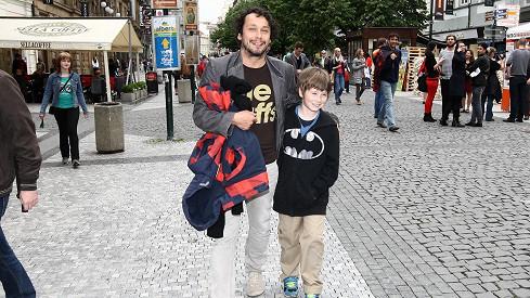 Pavel Liška se synem Šimonem Samuelem
