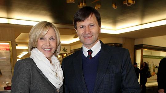 Jan Hrušínský s manželkou Miluší Šplechtovou