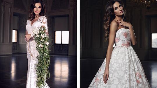 Eliška Bučková ve svatebních šatech