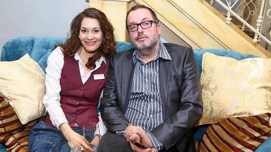 Barbora Seidlová a Josef Polášek na představení seriálu