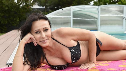 Heidi Janků a její domácí letní pohoda...