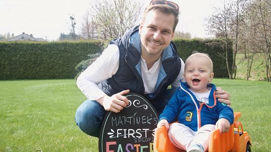 Hrdý taťka Martin Chodúr se synem