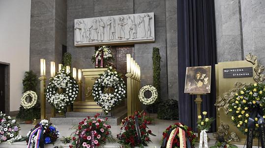 Pohřeb Heleny Štáchové