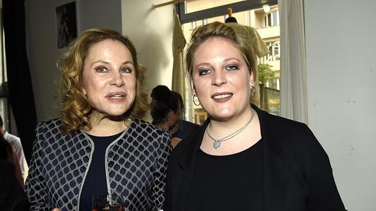 Petra Hapková (vpravo) s maminkou Zorou Ullou Keslerovou