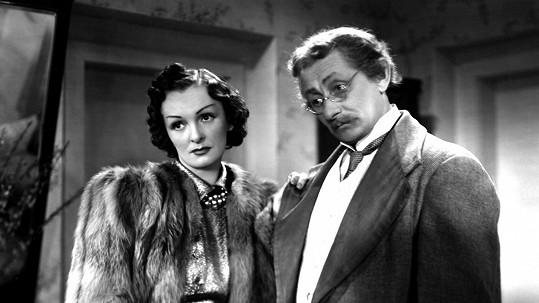 Světla Svozilová a Vlasta Burian, který byl ve filmu Provdám svou ženu okouzlen i Zitou Kabátovou.