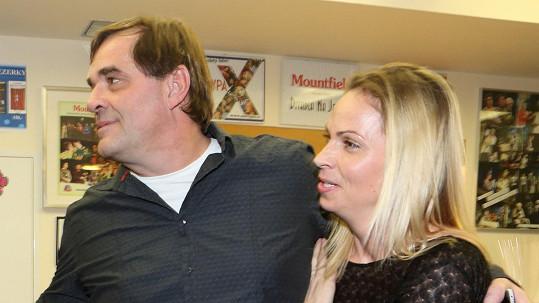 Miroslav Etzler s přítelkyní