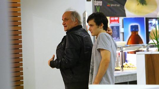 Michael Kocáb se synem