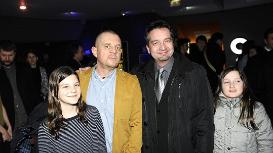 Petr Čtvrtníček s dcerou a bratrem
