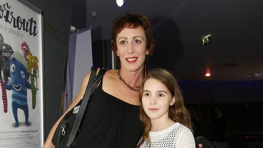 Kristýna Frejová s dcerou