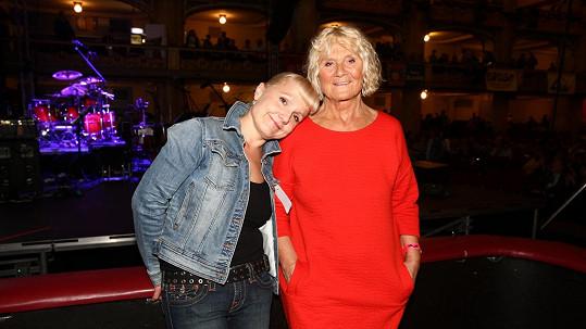 Dcera Michala Tučného Michaela s maminkou Martou