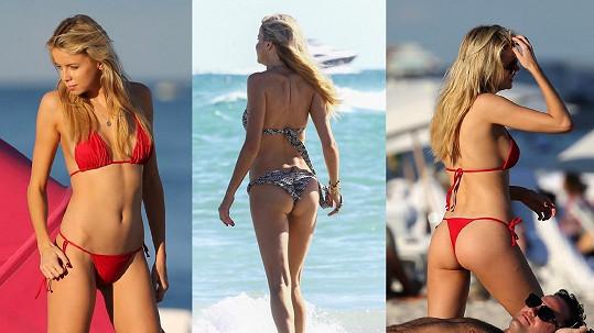 Každý den Louisa předvede návštěvníkům pláže další ze své sbírky sexy bikin.
