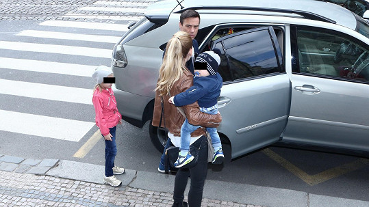 Roman Vojtek s rodinou